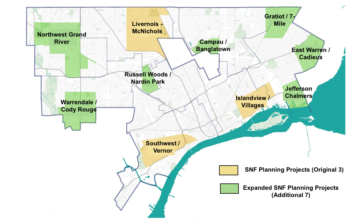 $130M in investments coming to seven Detroit neighborhoods on